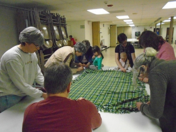 Making a Blanket for Mercy Crisis Pregnancy Center